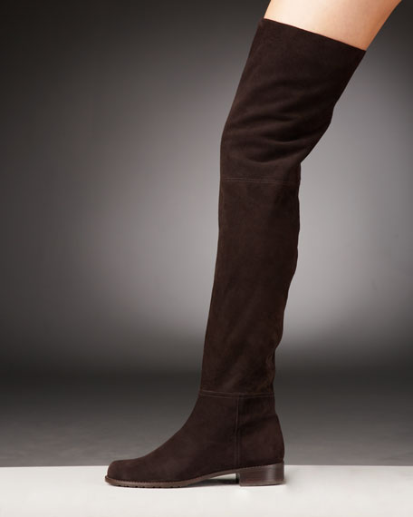 Stuart Weitzman Suede Over-the-Knee Boot