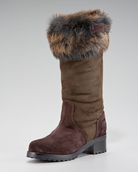Fur-Capped Work Boot