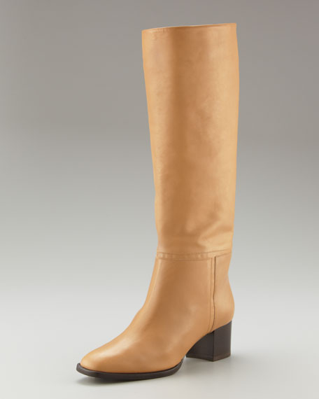 Polished Pull-On Calfskin Boot