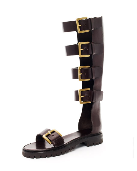 Tall Gladiator Buckle Boot
