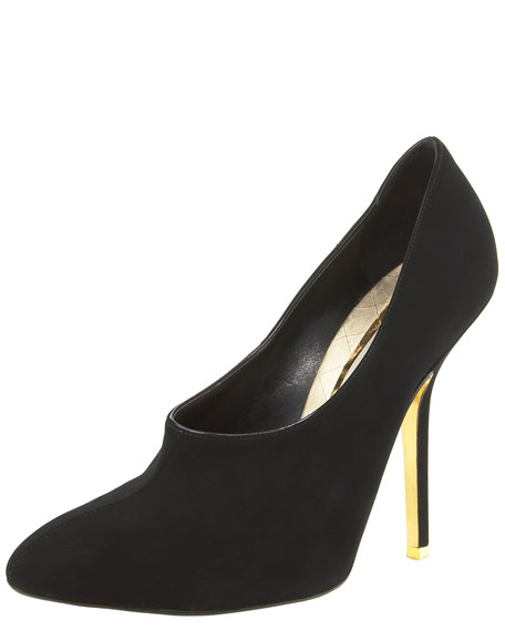 Stella McCartney Faux-Suede High-Vamp Pump