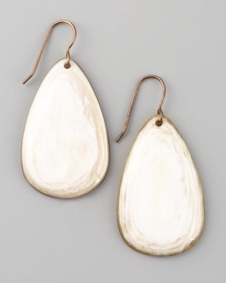African Horn Teardrop Earrings
