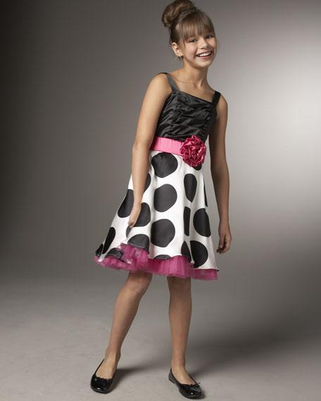 Un Deux TroisBig Polka-Dot Dress with Shrug