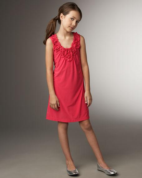 Crystal Ruffled Jersey Dress