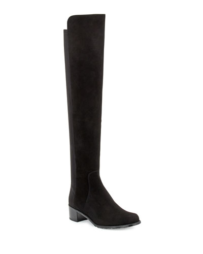 Reserve Suede Over-the-Knee Boot, Black