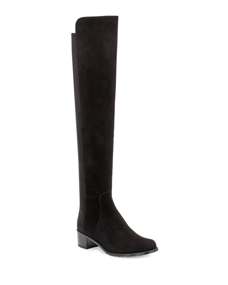 Stuart Weitzman Reserve Suede Over-the-Knee Boot, Black