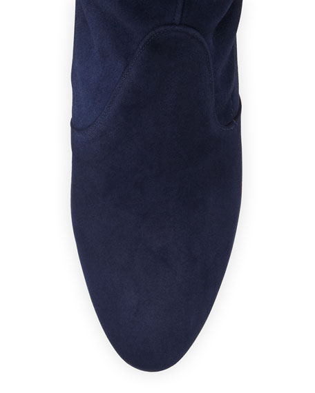 Highland Suede Over-The-Knee Boot, Nice Blue