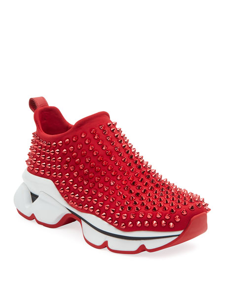 Image 1 of 3: Spike Sock Donna Red Sole Sneakers