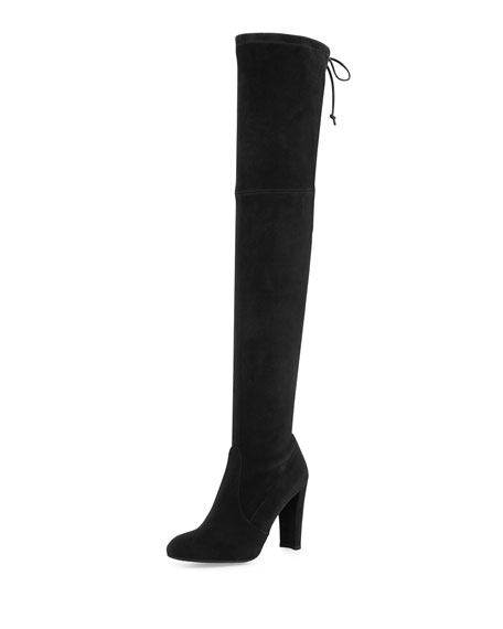 Stuart Weitzman Highland Suede Over-The-Knee Boot, Black