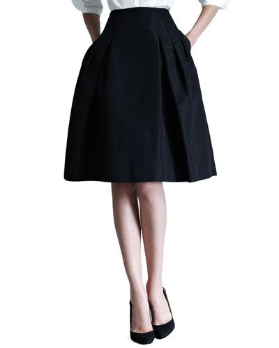 Silk Faille Party Skirt