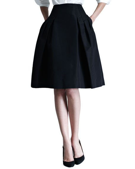 Carolina Herrera Silk Faille Party Skirt