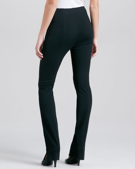 Structured Slim Jersey Body Pants I, Black