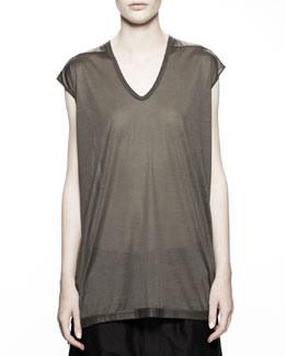 Rick Owens Floating Tee, Milk White