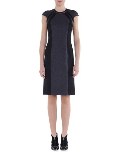 Bicolor Interlock Jersey Dress