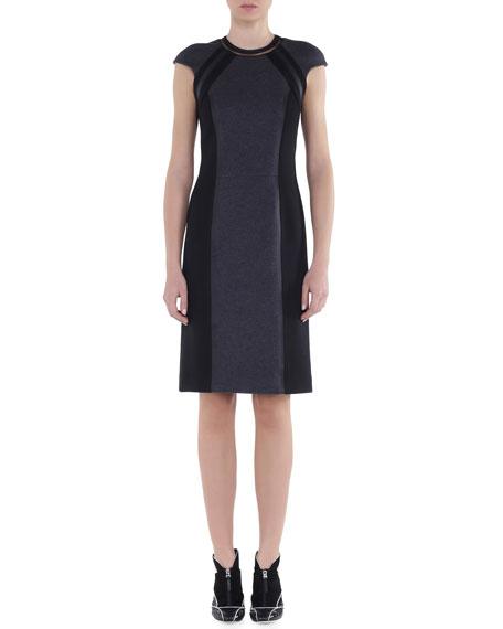 Fendi Bicolor Interlock Jersey Dress