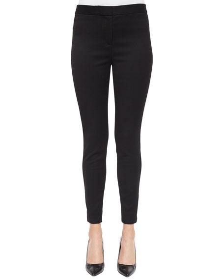 Lela Rose Stretch Skinny Pants, Black