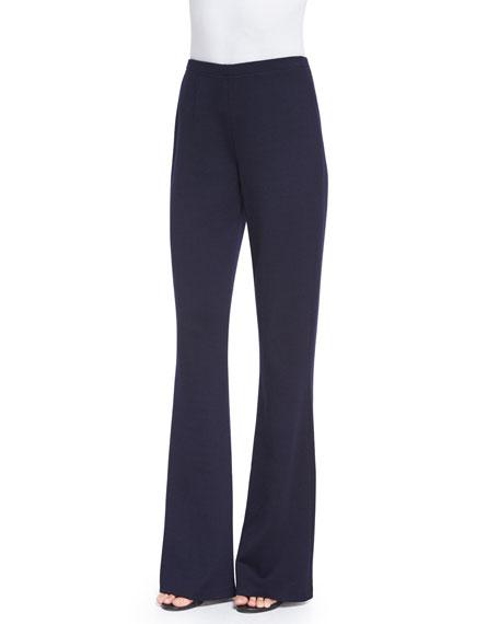 63ae4d56932f3 St. John Collection Kasia Milano Knit Flare-Leg Pants   Neiman Marcus