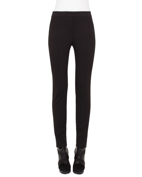 Akris punto Frankie Slim-Leg Ankle Pants, Black
