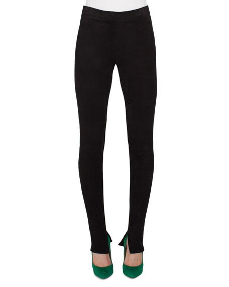 Akris Stretch-Knit Skinny Pants, Black