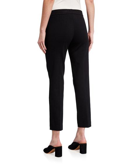Akris punto Frankie Slim-Leg Ankle Pants, Black