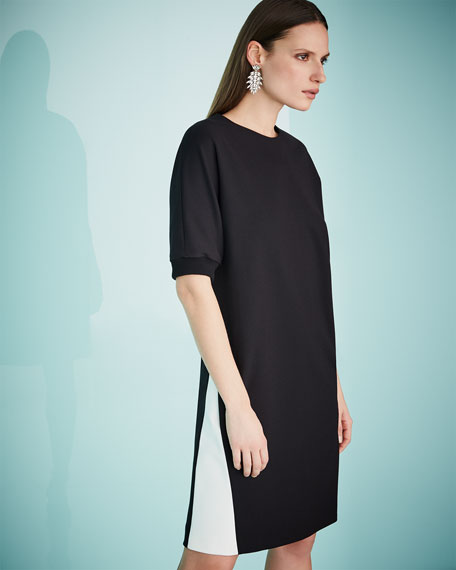 Half-Sleeve Sweatshirt Dress
