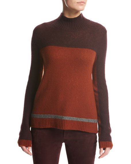 Loro Piana Dolce Vita Mock-Neck Sweater