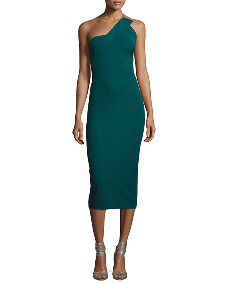 Cushnie Et Ochs Sandra One-Shoulder Sheath Dress