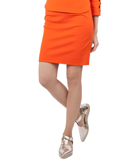 Fitted Jersey Skirt