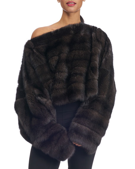 Oversized Sable Fur Pullover