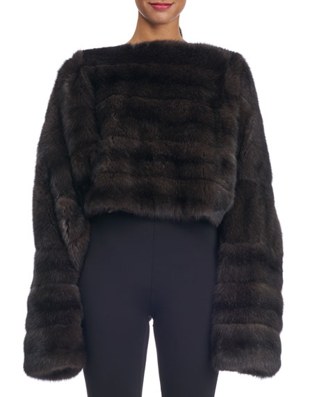 Michael Kors Collection Oversized Sable Fur Pullover