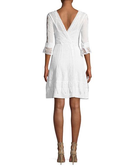 High-Neck Edwardian-Lace Maxi Dress