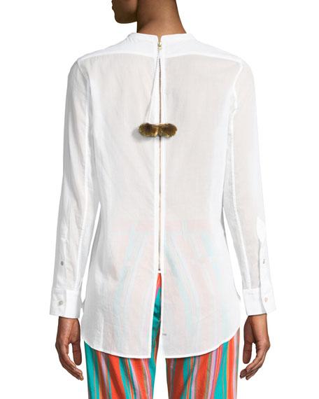 Figue Manuela Beaded Tuxedo Shirt