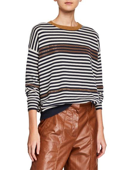 Brunello Cucinelli Solomeo Striped Wool/Cashmere Sweater