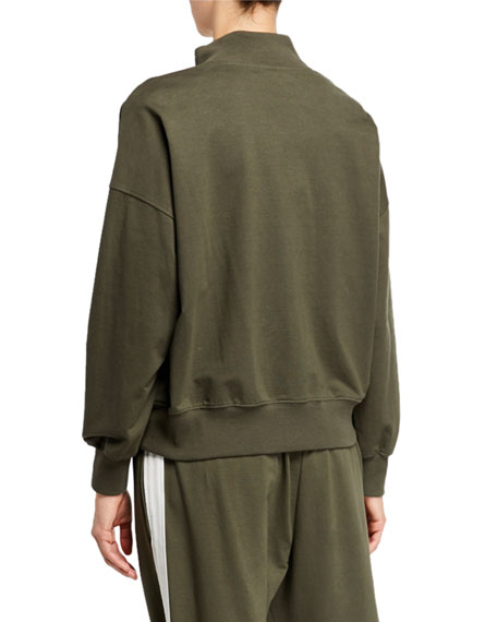 Brunello Cucinelli Monili-Trim Cotton Felpa Bomber Jacket