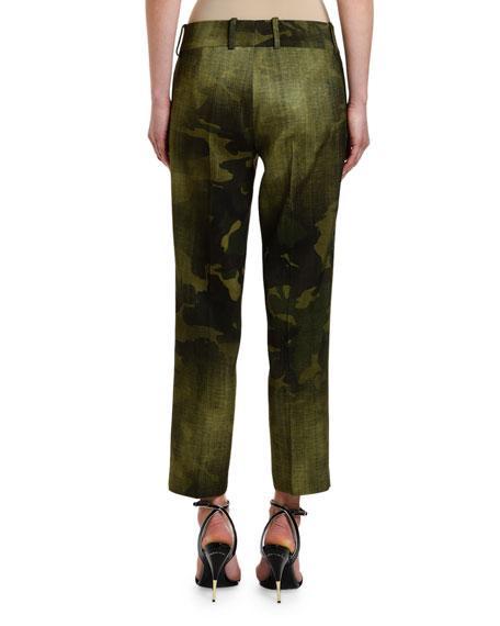 Ermanno Scervino Camo Cropped Skinny Pants