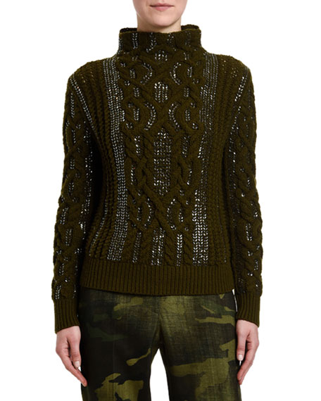 Ermanno Scervino Cable-Knit Turtleneck Sweater