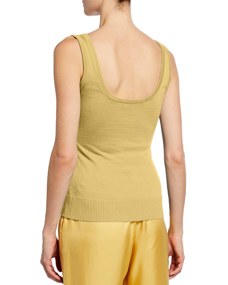 Sally LaPointe Cashmere/Silk Knit Tank Top