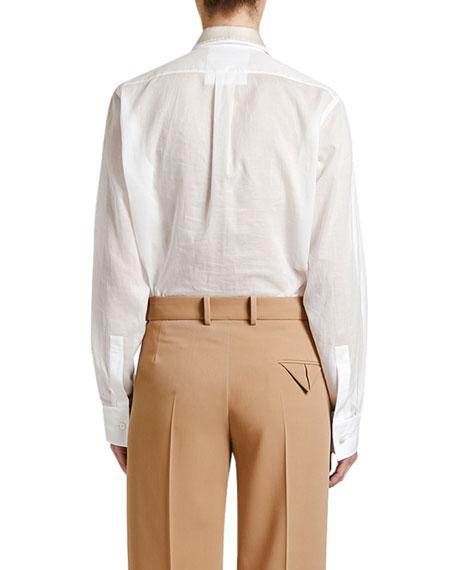 Bottega Veneta Plastron-Front Boyfriend Shirt