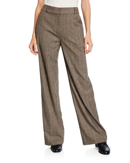 Co Glen-Plaid Cropped Pants