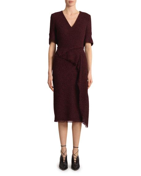 Roland Mouret Marengo Boucle Midi Dress