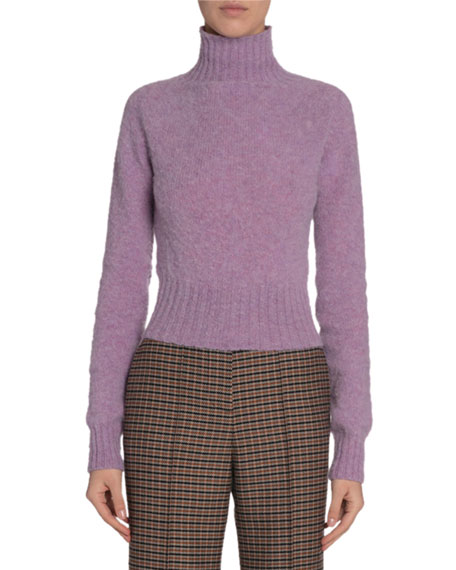 Victoria Beckham Wool Turtleneck Cropped Sweater