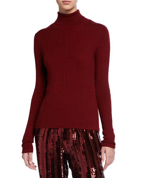 Sally LaPointe Cashmere Silk Lightweight Turtleneck Sweater
