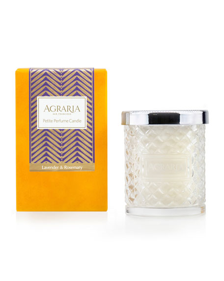Agraria Lavender & Rosemary Crystal Cane Candle, 3.4