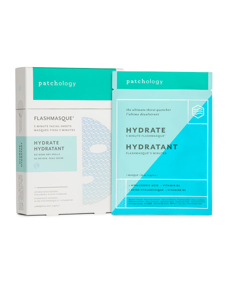 Patchology FlashMasque?? Hydrate Facial Sheets, 4-pack