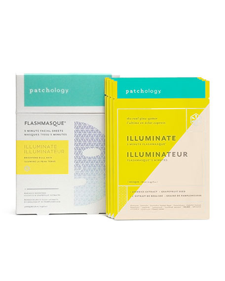 Patchology FlashMasque™ Illuminate Facial Sheets, 4-pack