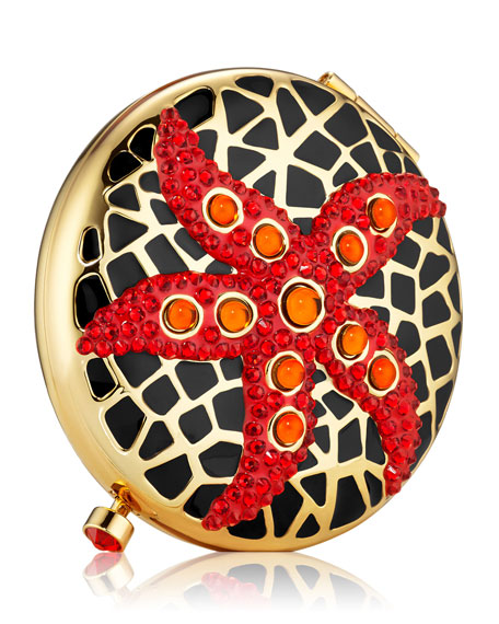 Estee Lauder Exclusive Limited Edition Jeweled Starfish Powder Compact by Monica Rich Kosann