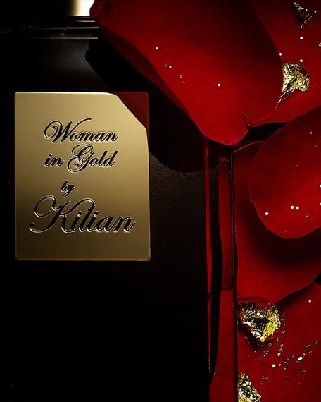 Kilian Woman In Gold Travel Spray with its 4 x .25 oz refills