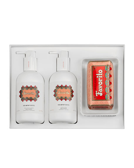 Claus Porto FAVORITO LIQUID SOAP+BODY MOISTURIZER+SOAP GIFT SET
