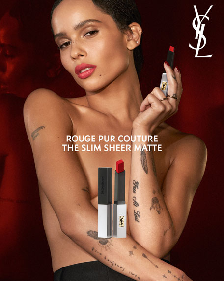 Image 4 of 5: Yves Saint Laurent Beaute Rouge Pur Couture The Slim Sheer Matte Lipstick