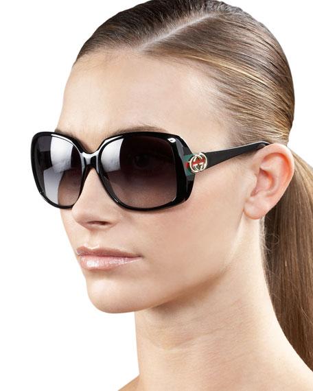 Gucci Narrow-Temple Sunglasses